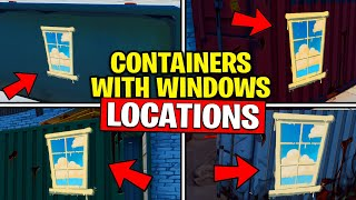 SEARCH CHESTS INSIDE CONTAINERS WITH WINDOWS - SPRAY AND PRAY CHALLENGES GUIDE FORTNITE