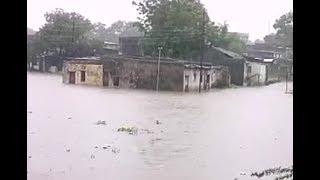 सरदार सरोवर बांध का बेक वाटर बढ़ने से धार जिले के निसरपुर में बाढ़ का पानी घुसने लगा। #bn