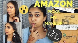 Amazon Picks My Makeup Challenge | Makeup Doing Produts from Amazon Freedom Sale | Nidhi Katiyar