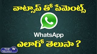Whatsapp Payments Full Details | How to Pay With Whatsapp | Whatsapp Features 2019 | Top Telugu TV