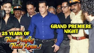Salman Khans GRAND ENTRY At Hum Aapke Hain Koun Screening | #25YearsOfHAHK
