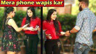 Cute Girl Stealing Phone Prank | Unglibaaz