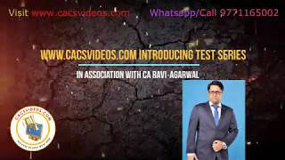 Test Series for CA Exam All Level - CA Ravi Agarwal and Team
