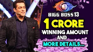 Bigg Boss 13 Prize Money To Be Increased To Rs  1 CRORE | Salman Khan's  Show video - id 3618939c7d32ce - Veblr Mobile