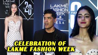 Ananya Pandey & Manish Malhotra At Celebration Of Lakme Fashion Week 20 Glorious Years of Fashion