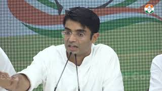AICC Press Briefing By Jaiveer Shergill at Congress HQ on Flood Situation