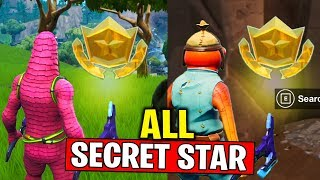 ALL SECRET BATTLE STAR LOCATIONS! WEEK 1 & WEEK 2 SECRET BATTLE STAR FORTNITE SEASON 10