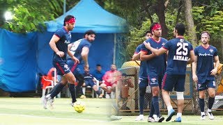 Ranbir Kapoor Abhishek Bachcahn, Ahan Shetty And Others Spotted During Football Match At JUHU