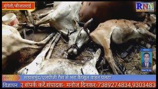 मुंगेली/फास्टरपुर थाना क्षेत्र के ग्राम बिजातराई में बिती रात आग लगने से 7 मवेसी की मौत,