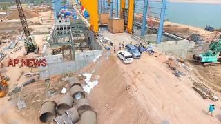 Polavaram Dam Project Aerial View Professional Drone Camera Visuvals | Godavari project | online