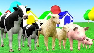 Farm Animals And Their Kids Playing Wrong Baby Matching - Videos para niños