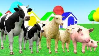 Farm Animals And Their Kids Playing Wrong Baby Matching - Videos para niños
