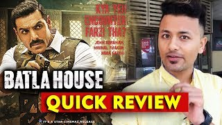 Batla House Movie QUICK REVIEW | John Abraham | Mrunal Thakur | Nora Fatehi