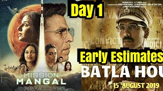 Mission Mangal And <span class='mark'>Batla House</span> Box Office Collection Day 1 Early Estimates