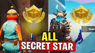 ALL SECRET BATTLE STAR LOCATIONS! WEEK 1 & WEEK 2 & WEEK 3 SECRET BATTLE STAR FORTNITE SEASON 10
