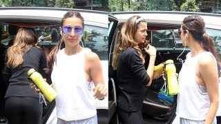 Malaika Arora And Amrita Arora Spotted At Diva Yoga Bandra