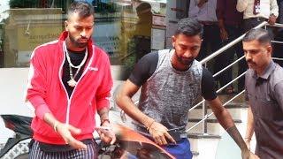 Cricketer Hardik Pandya And Kunal Pandya Spotted At Yasmin karachiwala Gym Bandra