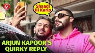 Arjun Kapoors Quirky Reply On Taking A Selfie With A Fan - 'Shaadi Hi Karlo'