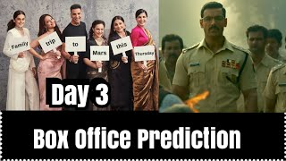 Mission Mangal Vs <span class='mark'>Batla House</span> Box Office Prediction Day 3
