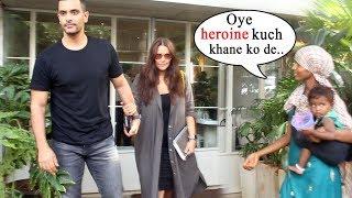 Neha Dhupia And Husband Angad Bedi Spotted At Sequel Restaurant Bandra
