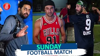 Watch: Ranbir Kapoor, Abhishek Bachchan, Dino Morea's Sunday Football Match