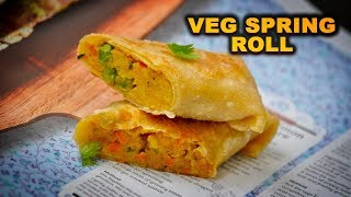 Veg Spring roll / Healthy snacks box recipe for kids / Spring roll