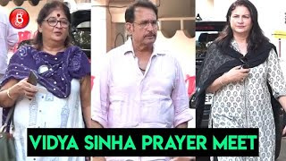 Vidya Sinha's Prayer Meet: Bollywood Celebs Come Down To Offer Condolences
