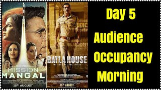 Mission Mangal Vs Batla House Morning Audience Occupancy Day 5