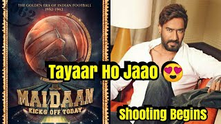 Ajay Devgn Starts Shooting For Maidaan Movie Based On Indian Football!