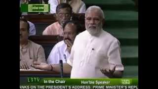 PM Narendra Modi replies to the debate on the Motion of thanks on the President's Address -Part-3