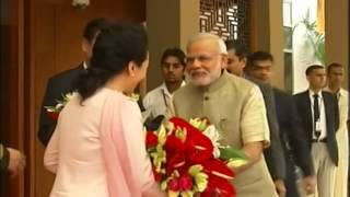 PM Narendra Modi welcomes Chinese President Xi Jinping at Hotel Hyatt | PMO