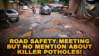 Govt Holds Meeting On Road Safety But Doesn't Talk About Potholes!