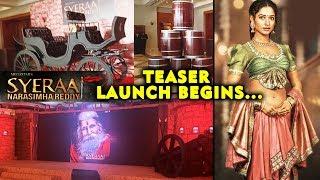 Sye Raa Narasimha Reddy Teaser Launch Begins | Amitabh Bachchan, Dr. Chiranjeevi, Tamannaah