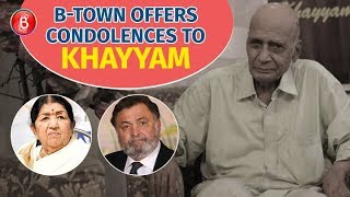 Bollywood Celebs Offer Their Condolences To Veteran Music Composer Khayyam
