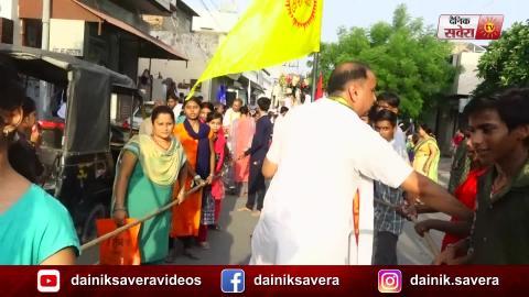 Bathinda में Shri Krishna Janmashtami को समर्पित सजी रथ यात्रा