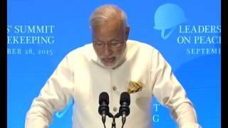 PM Modi's address at Leaders' Peacekeeping Summit | PMO