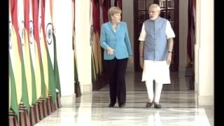 PM meets German Chancellor Angela Merkel at Hyderabad House | PMO