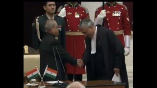 PM at oath ceremony of new CJI at Rashtrapati Bahavan | PMO