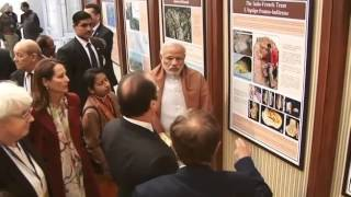 PM Modi, French Prez Hollande visit museum, gallery | PMO