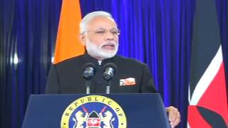 PM Modi's speech at the Joint Press statements between India   Kenya in Kenya | PMO
