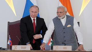 PM Modi & President Putin at Joint Press Statement - BRICS 2016 | PMO