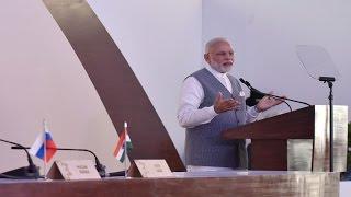 PM Modi's Speech at Joint Press Statement with President Putin - BRICS 2016 | PMO