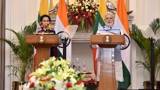 PM Modi at Joint Press Statements with Myanmar State Counsellor Daw Aung San Suu Kyi | PMO