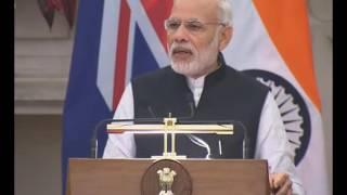 PM Modi's Speech at Joint Press Statements with Prime Minister of New Zealand Mr John Key, New Delhi