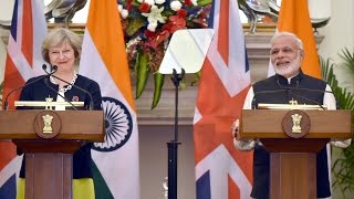 PM Modi  at Exchange of Agreements & Press Statements with PM of UK Ms. Theresa May | PMO