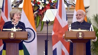 PM Modi's Speech at Exchange of Agreements & Press Statements with PM of UK Ms. Theresa May | PMO