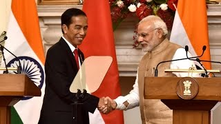 PM Narendra Modi & Indonesian President Joko Widodo at Joint Press Statement | PMO