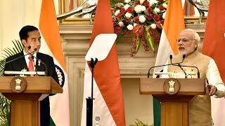 PM Narendra Modi's Speech at Joint Press Statement with Indonesian President Joko Widodo | PMO