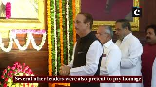 Several leaders pay homage to former PM Rajiv Gandhi in Parliament