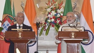 PM Modi's Speech at Press Statement & Exchange of Agreements with Mr. Antonio Costa PM of Portugal